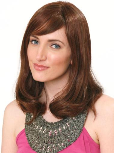 Affordable Monofilament Wavy Shoulder Length Human Hair Wigs