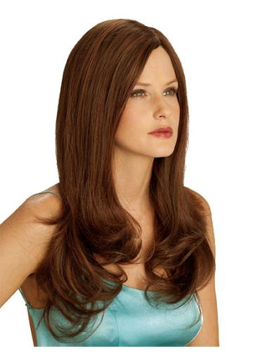 Fashionable Monofilament Wavy Long Lace Front Wigs