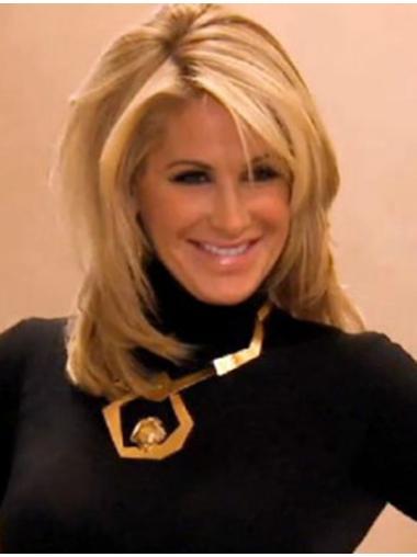 Sassy Blonde Straight Shoulder Length Kim Zolciak Wigs