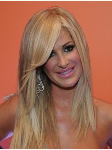 Popular Blonde Straight Long Kim Zolciak Wigs