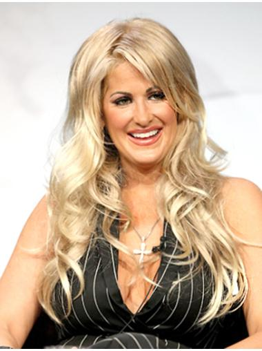 Suitable Blonde Wavy Long Kim Zolciak Wigs