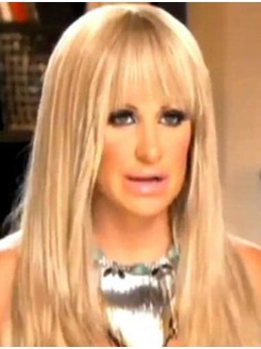 Natural Blonde Straight Long Kim Zolciak Wigs