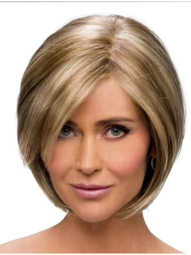 Comfortable Synthetic Monofilament Straight Medium Wigs