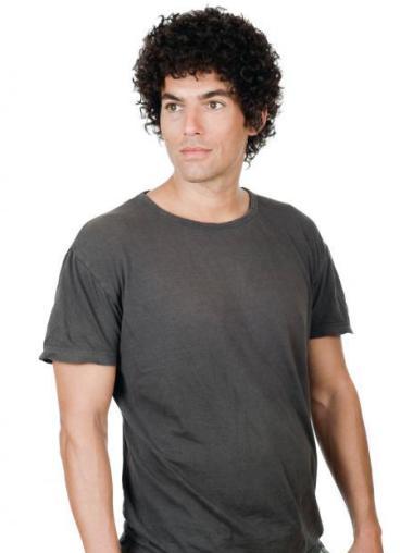 Trendy Curly Full Lace Short Men Wigs