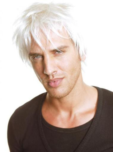 Affordable Straight Full Lace Short Men Wigs
