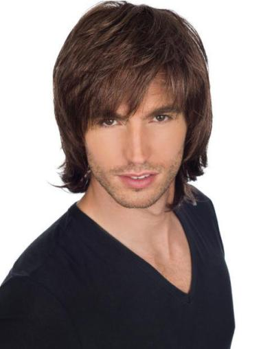Fabulous Straight Full Lace Short Men Wigs