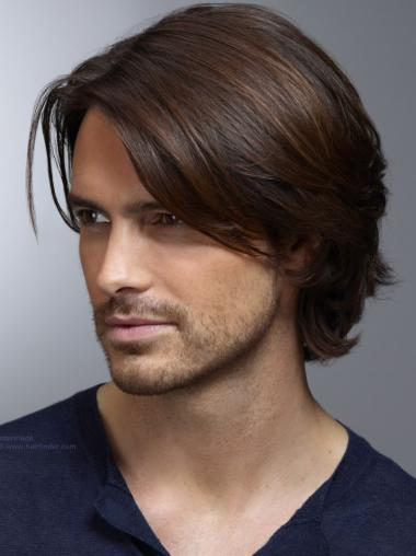 Comfortable Straight Hand Tied Short Men Wigs