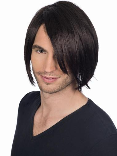 Comfortable Straight Full Lace Short Men Wigs