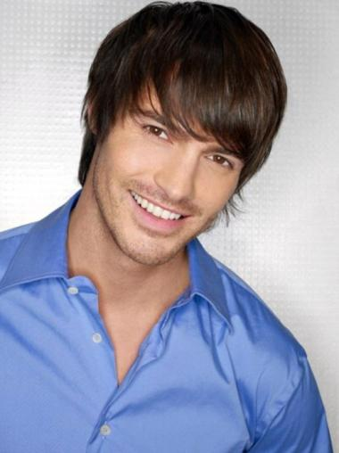 Top Straight Full Lace Short Men Wigs
