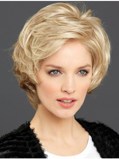 "6"" Wavy Convenient Synthetic 100% Hand-tied Wigs"