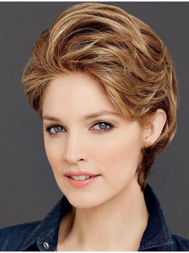 Perfect Short Wavy Brown Classic Wigs