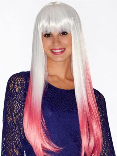 "22"" Straight Ombre/2 tone Long Synthetic Wigs"