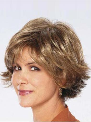 Modern Brown Wavy Chin Length Synthetic Wigs