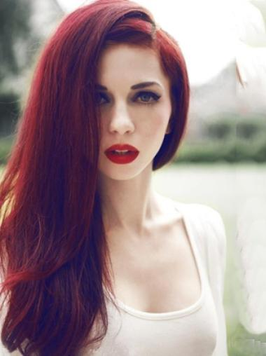 New Arrival Super Sexy Red Lace Wig 100% Human Hair 20 Inches