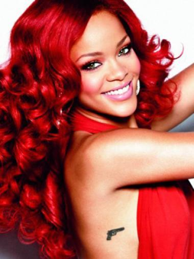 Light Red Curly Capless Synthetic Wigs