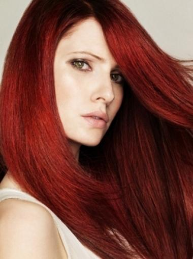 Good-Looking Straight Long Style Dark Red Synthetic Wigs