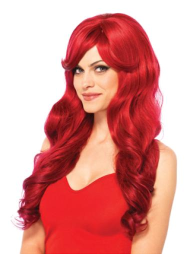 Long Wavy Capless Synthetic Red Wigs