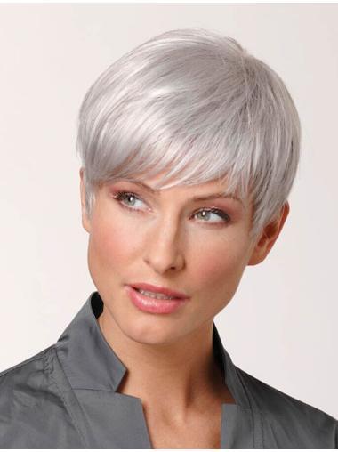 Popular Straight White Grey High Quality Wigs