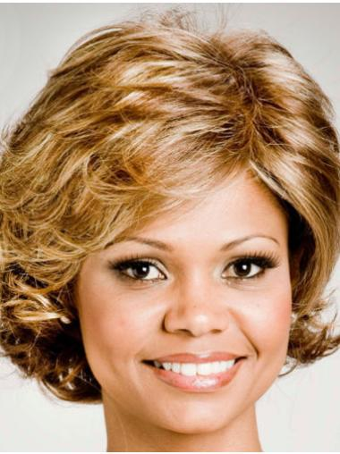 Comfortable Curly Blonde Layered New Design Wigs