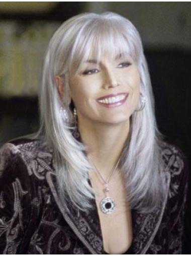 High Quality Long Straight Fashional Grey Wigs 100 Hand