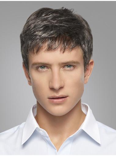 Amazing White Short Straight Grey Popular Men Wigs be624c2ba72e