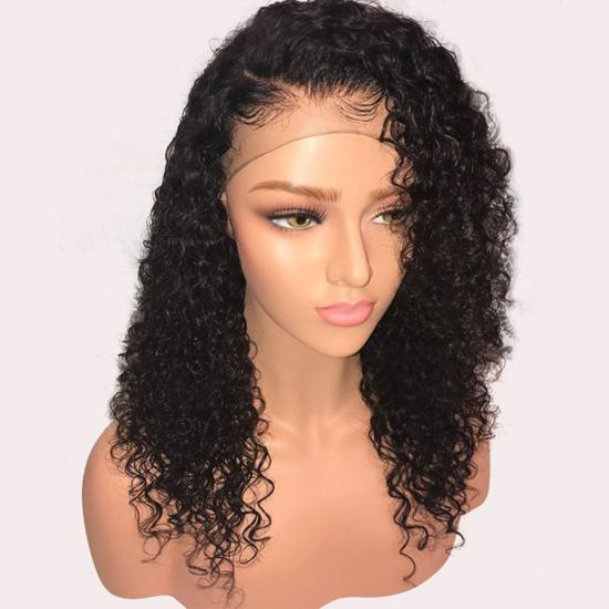 Curly Lace Front Human Hair Wigs Pre Plucked With Baby Hair ... 573c3af394
