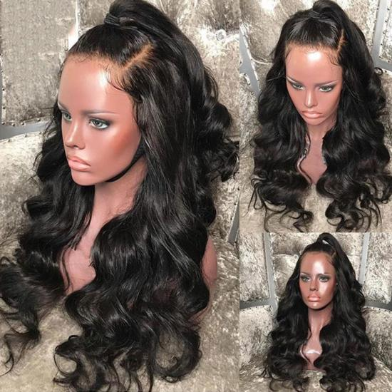 Lace Front Human Hair Wigs Brazilian Body Wave Remy Hair Lace ... ccc231b317