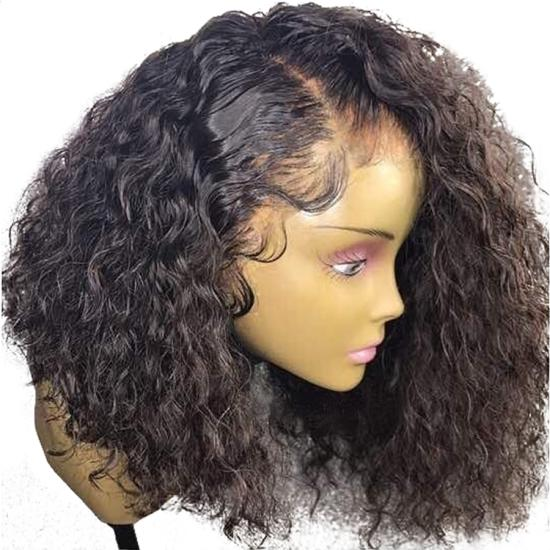 b1dd868fb Curly 360 Lace Frontal Wig Pre Plucked With Baby Hair 180% Density ...
