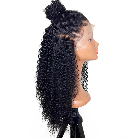 360 Lace Frontal Curly Wigs With Baby Hair Front Lace Wig For ... 3e97e863a514