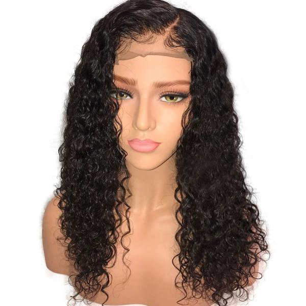 Curly Full Lace Human Hair Wigs Pre Plucked