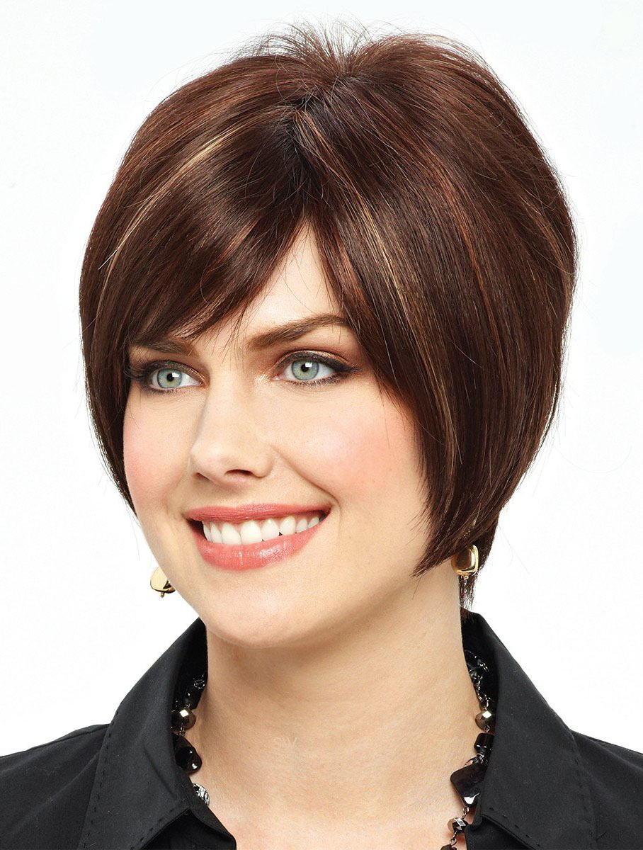 Beautiful Auburn Lace Front Short Wigs