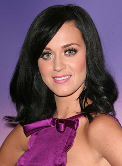 Popular Black Wavy Shoulder Length Katy Perry Wigs Katy Perry Wigs For Sale