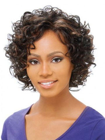 Fashionable Lace Front Curly Short Petite Wigs Natural