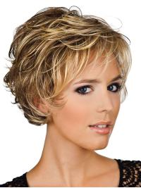 Preferential Blonde Wavy Short Human Hair Wigs 5b9c040a0f