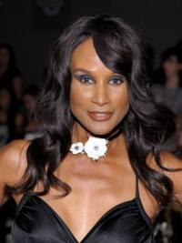 Beverly Johnson Cute Smooth Long Wavy Glueless Lace Human Hair Wig