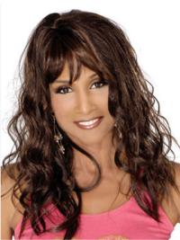 Beverly Johnson Knockout 100% Human Remy Hair Long Curly Lace Wig with Bangs