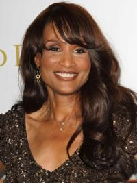 Beverly Johnson Stunning Long Full body Wavy Lace Front Human Hair Wig with Bangs