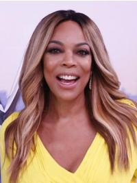 Synthetic Blonde Wavy Long Wendy Williams Wigs