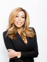 Synthetic Blonde Wavy Shoulder Length Wendy Williams Wigs