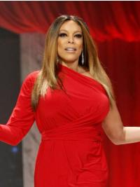 Remy Human Hair Blonde Straight Shoulder Length Wendy Williams Wigs