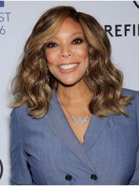 Synthetic Brown Wavy Shoulder Length Wendy Williams Wigs