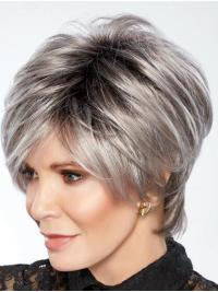 "Boycuts Grey 8"" Wavy Jaclyn Smith  Wigs"