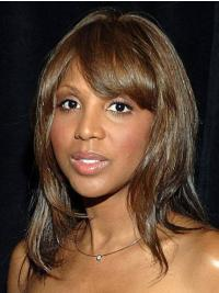 "With Bangs Brown 12"" Straight Toni Braxton Wigs"