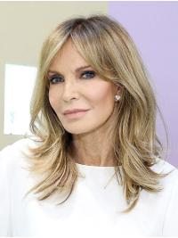 Wavy Ombre/2 Tone Shoulder Length Synthetic Capless Without Bangs Jaclyn Smith Wigs