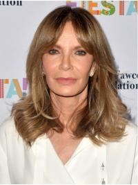 Wavy Blonde Shoulder Length Synthetic Lace Front Layered Jaclyn Smith Wigs