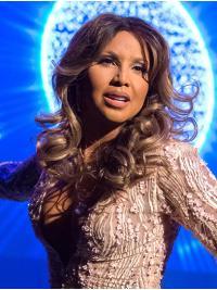 """18"""" Wavy Long Full Lace Layered Silver Toni Braxton Wigs"""