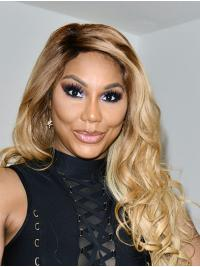 """24"""" Curly Long Lace Front Without Bangs Ombre/2 Tone Toni Braxton Wigs"""