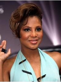 """8"""" Wavy Short Full Lace Without Bangs Ombre/2 Tone Toni Braxton Wigs"""