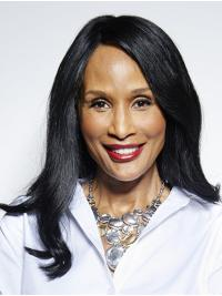 """Long 16"""" Straight Without Bangs Lace Front Beverly Johnson Wigs"""