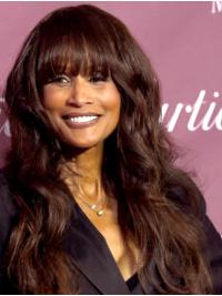 """Long 22"""" Wavy With Bangs Capless Beverly Johnson Wigs"""